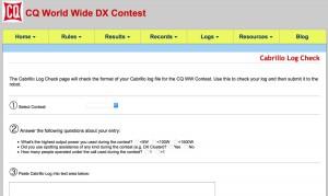 CQ WW Log Check Web Page