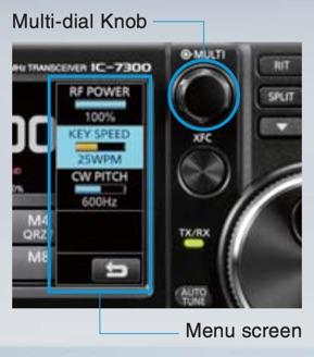 IC-7300 multi dial knob