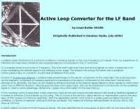 Active Loop Converter for LF