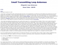 DXZone Small Loop Antennas by AA5TB