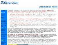 About Clandestine Radios
