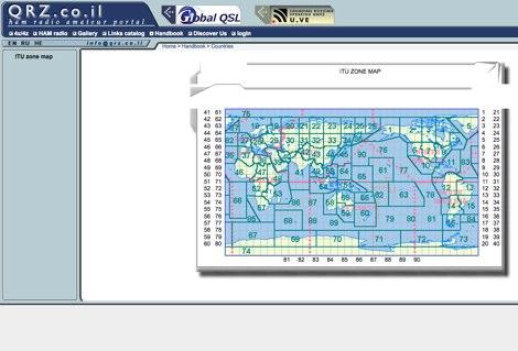DXZone ITU zone map
