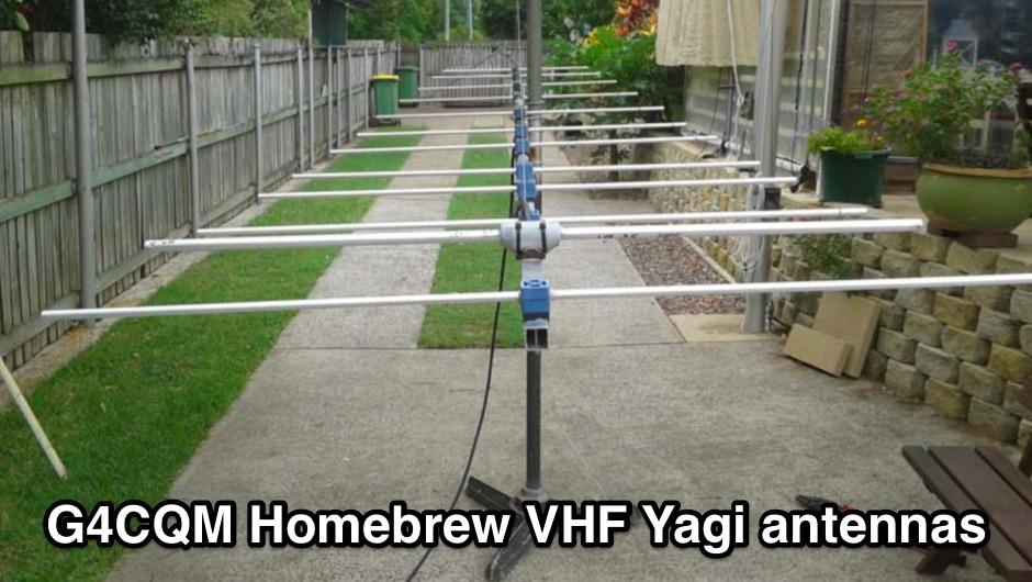 G4CQM Homebrew VHF Yagi antennas