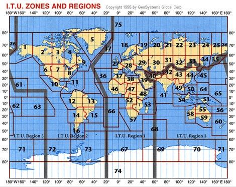 Map of ITU Zones