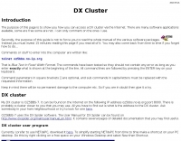 How access  DX Clusters via internet