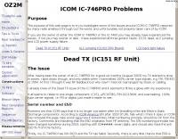 ICOM IC-746PRO Dead TX