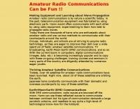 Ham Radio communications can be fun !