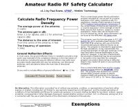Amateur Radio RF Safety Calculator