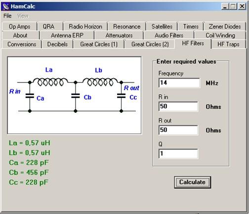 HamCalc  v1.3