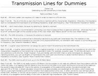 DXZone Transmission lines for dummies