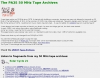 The PA2S 50 MHz Tape Archives