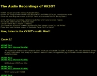 The Audio Recordings of VK3OT