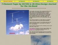 Stacked 7-Element-2m-Yagis