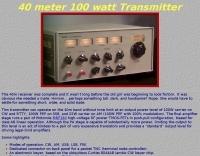 40 meter 100 watt Transmitter