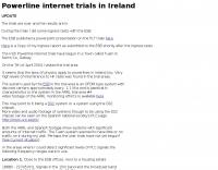PLT trials in Ireland