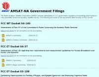 Amsat-na government filings