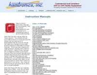 DXZone Hamtronics  Manuals