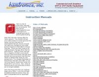 Hamtronics  Manuals