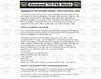 DXZone KD5PDP - Kenwood TH-F6A notes