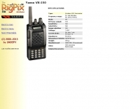 Rigpix database - Yaesu - VX-150