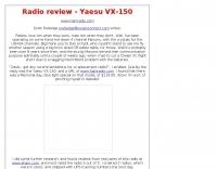 Radio review: Yaesu VX-150