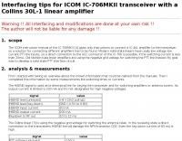 PTT line interface for ICOM IC-706 family