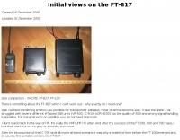 G6LVB Initial views on the FT-817
