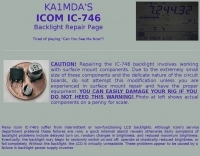Icom IC-746 backlight repair