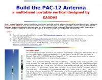 DXZone PAC-12 Vertical portable antenna