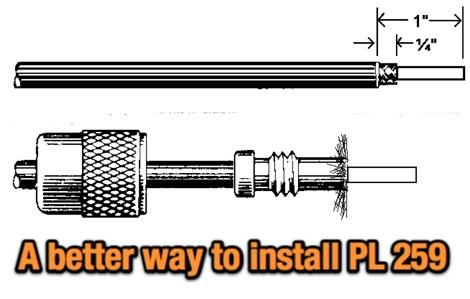 DXZone Install a PL-259 on an RG-8X