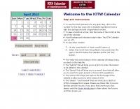 Iota calendar at islands on the web