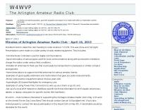 DXZone W4WVP- the arlington amateur radio club