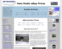 Joe Tracker  Ham Radio eBay Auction Price Tracker