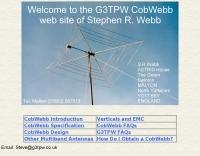 DXZone The G3TPW CobWebb HF Antenna
