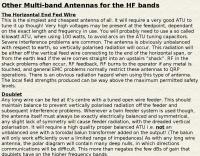 Types of multiband antennas