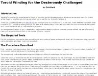 DXZone Toroid Winding