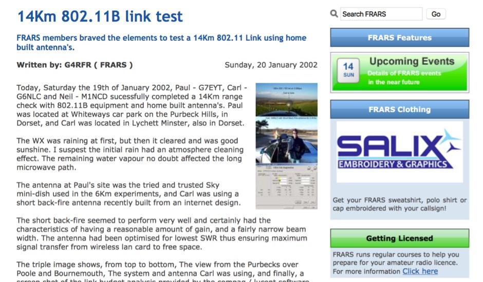 14Km 802.11B link test