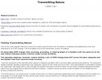 Transmitting Baluns