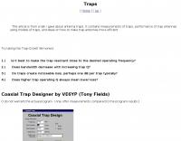 Trap antennas, coaxial trap, coax dipole antenna loss resistance