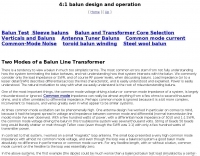 DXZone Balun single core 4:1 analysis