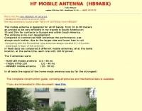 HF Mobile Antenna HB9ABX