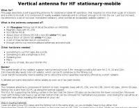IK1ZYW  Vertical antenna