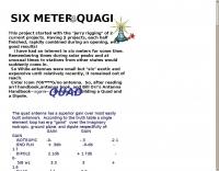 DXZone 6 meters Quagi
