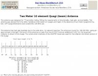 DXZone 2 Meter 10 Element Quagi Antenna