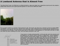 A Lowband Antenna that is Almost Free