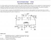 Easy Morse Code Keyer Circuit