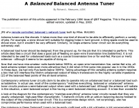 A *balanced* balanced antenna tuner