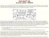 500 WATT PA by SM0VPO