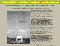 Dismantable Yagi for the bands 10-17m