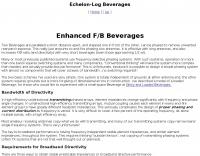 Echelon-Log Beverages